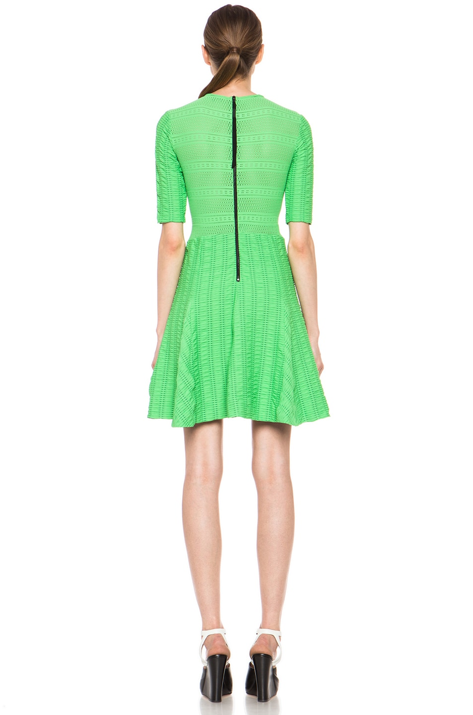 Image 4 of rag & bone Niki Flare Dress in Green
