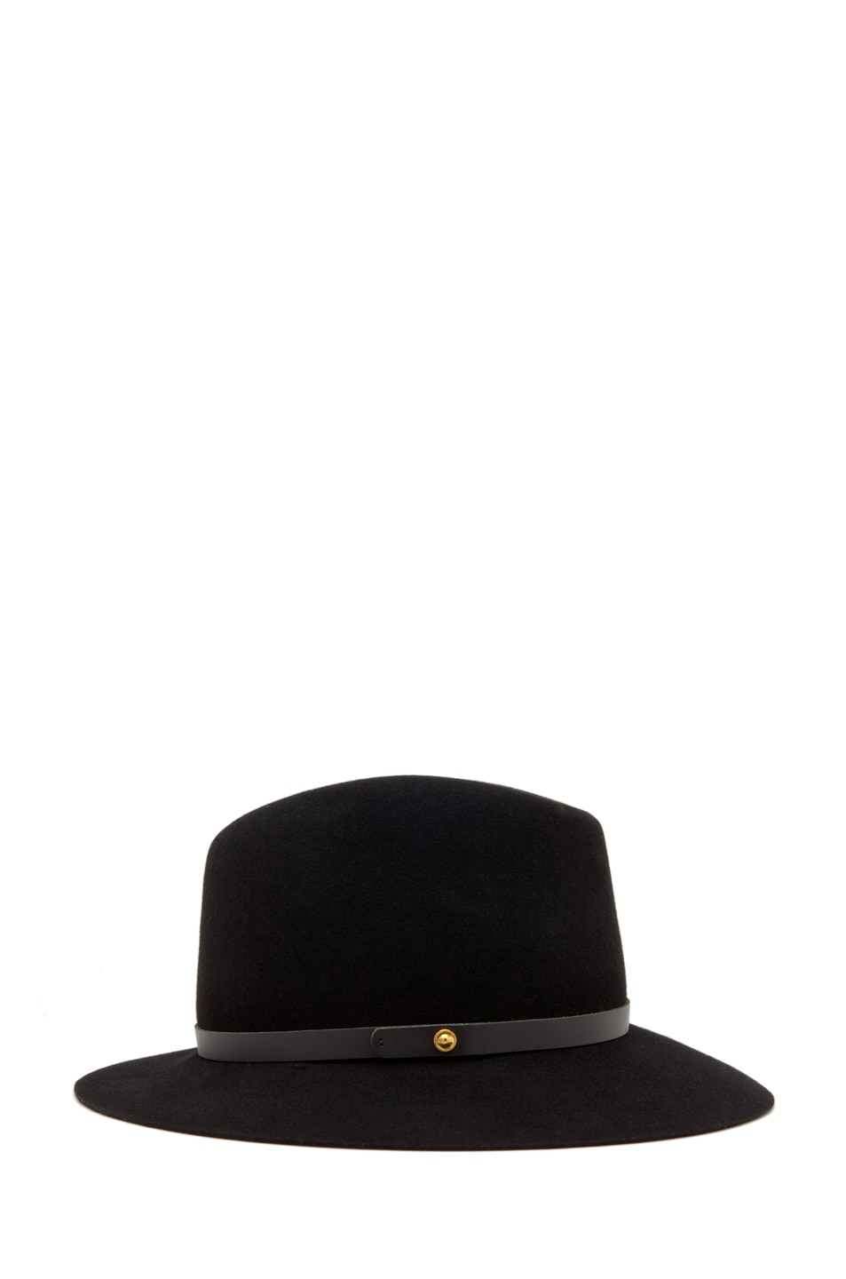 Image 2 of Rag & Bone Floppy Brim Fedora in Black