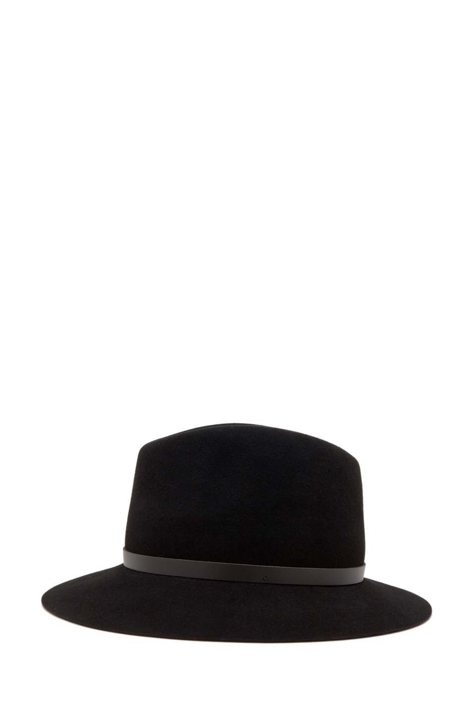 Image 4 of Rag & Bone Floppy Brim Fedora in Black