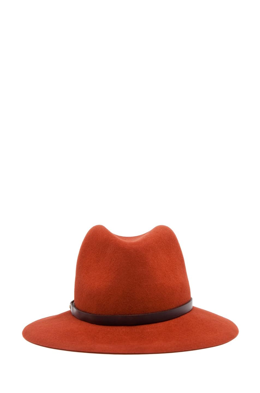 Image 2 of Rag & Bone Floppy Brim Fedora in Burnt Orange