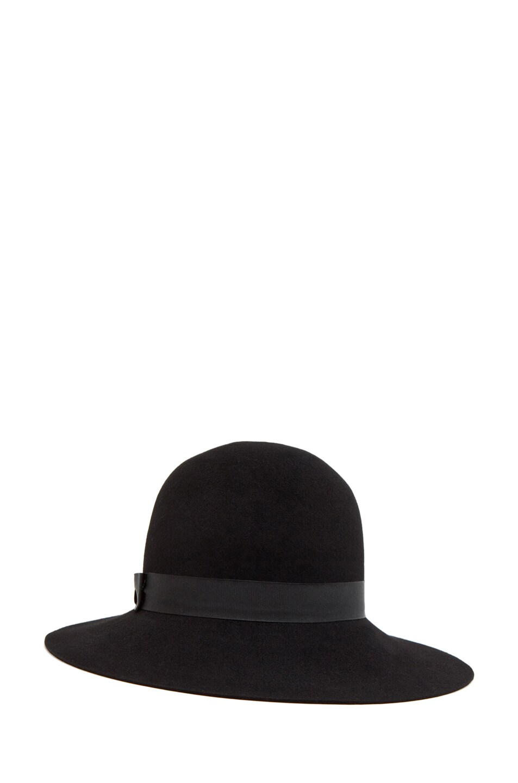 Image 2 of rag & bone Robinson Hat in Black