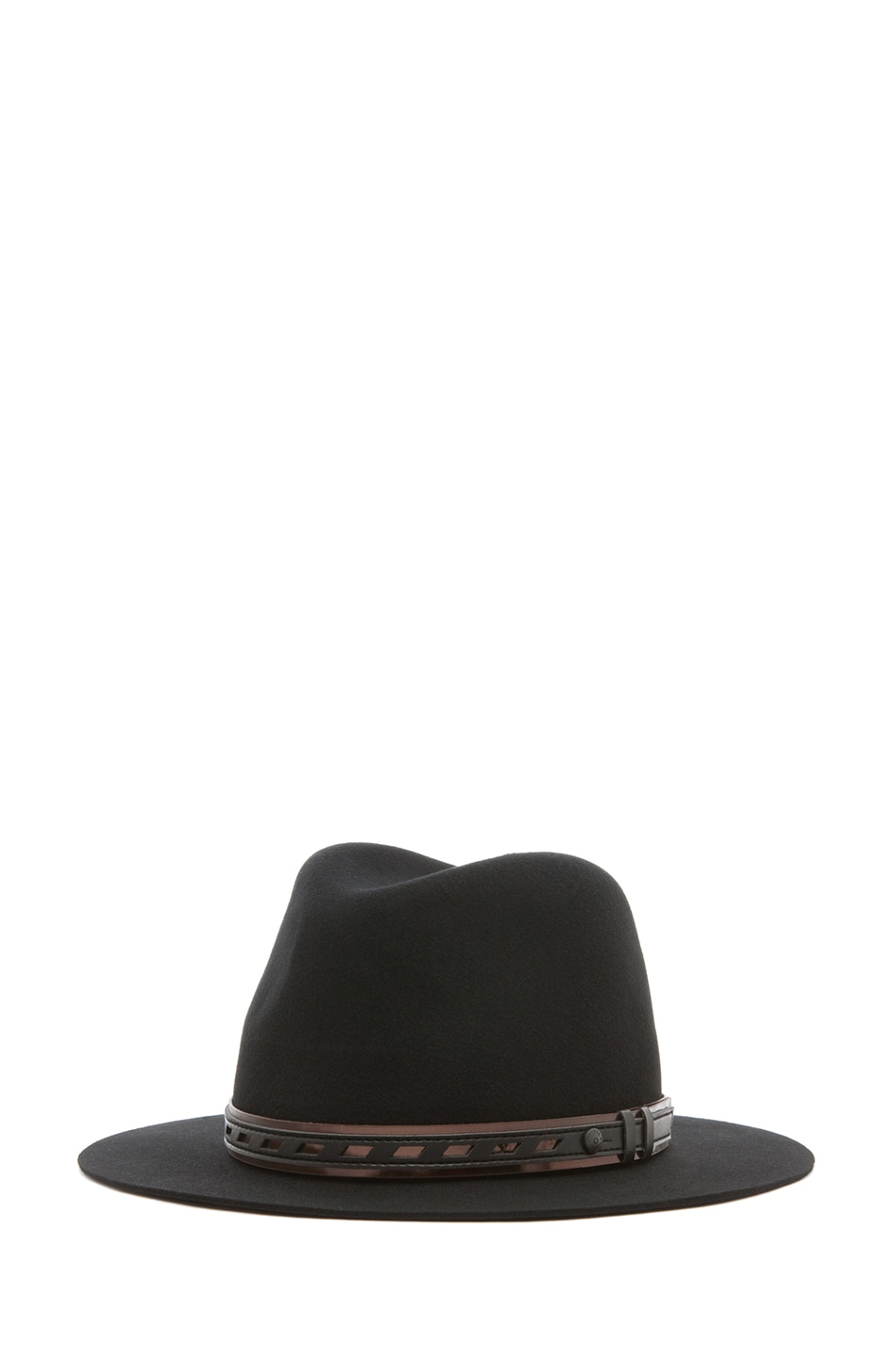 Image 1 of rag & bone Floppy Brim Fedora in Black