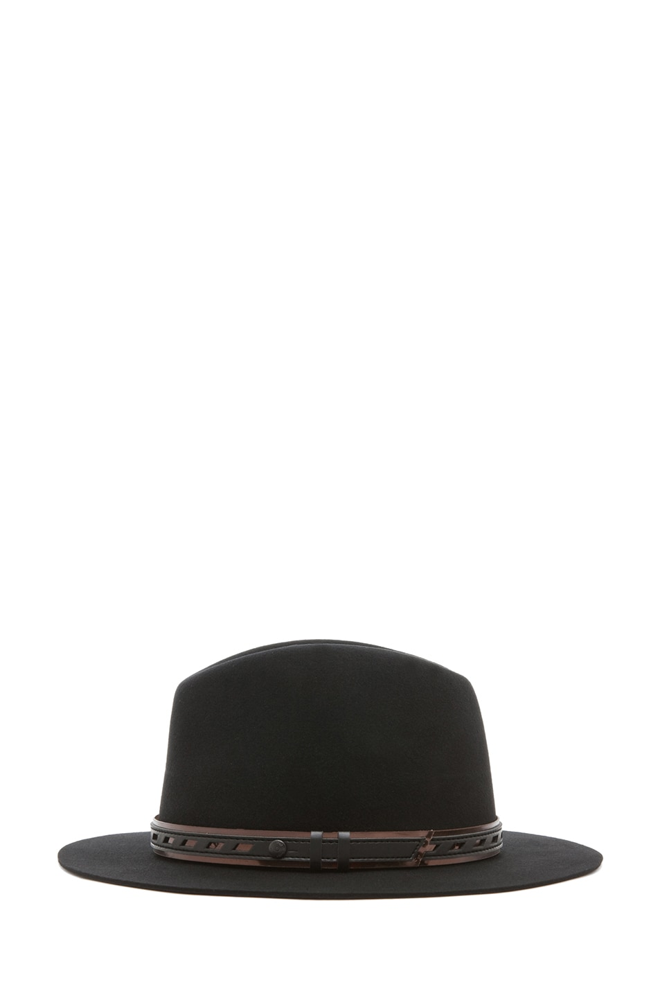 Image 3 of rag & bone Floppy Brim Fedora in Black