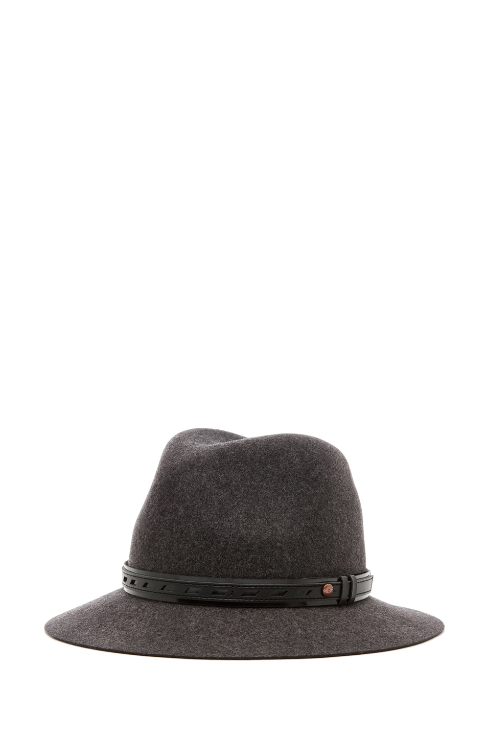 Image 1 of Rag & Bone Floppy Brim Fedora in Dark Grey