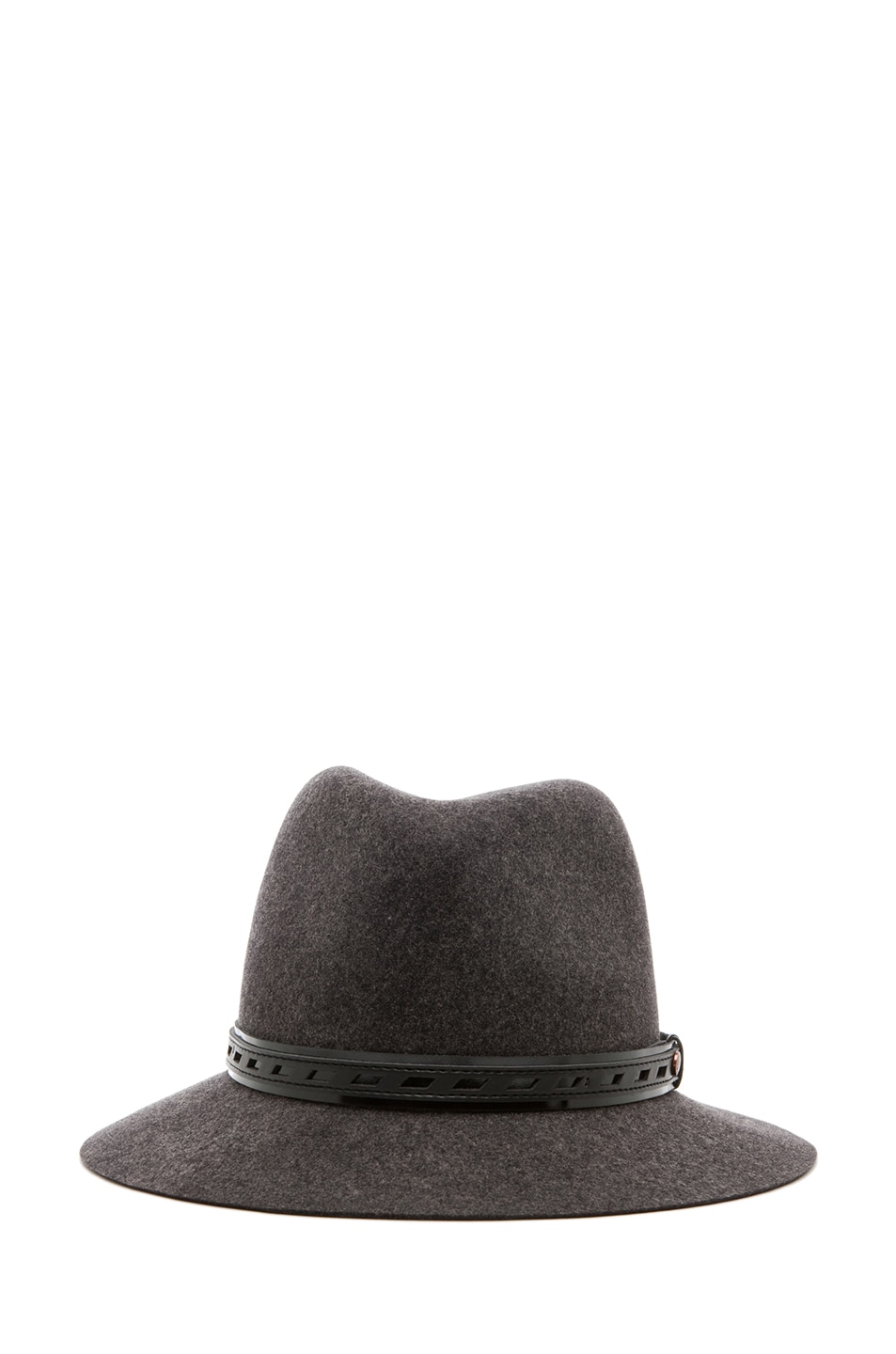 Image 2 of Rag & Bone Floppy Brim Fedora in Dark Grey