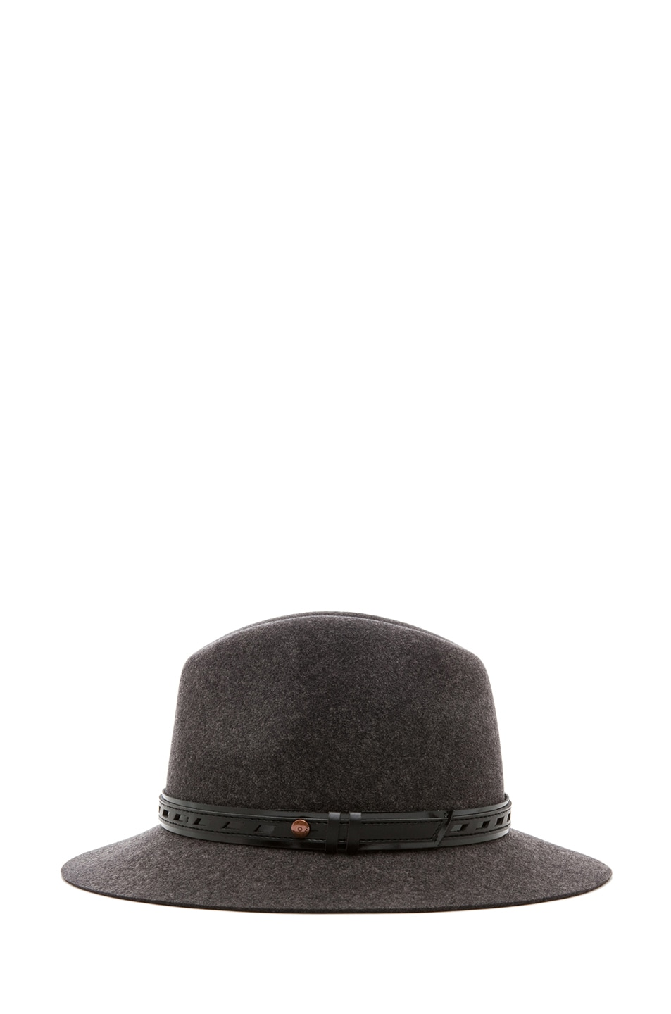 Image 3 of Rag & Bone Floppy Brim Fedora in Dark Grey