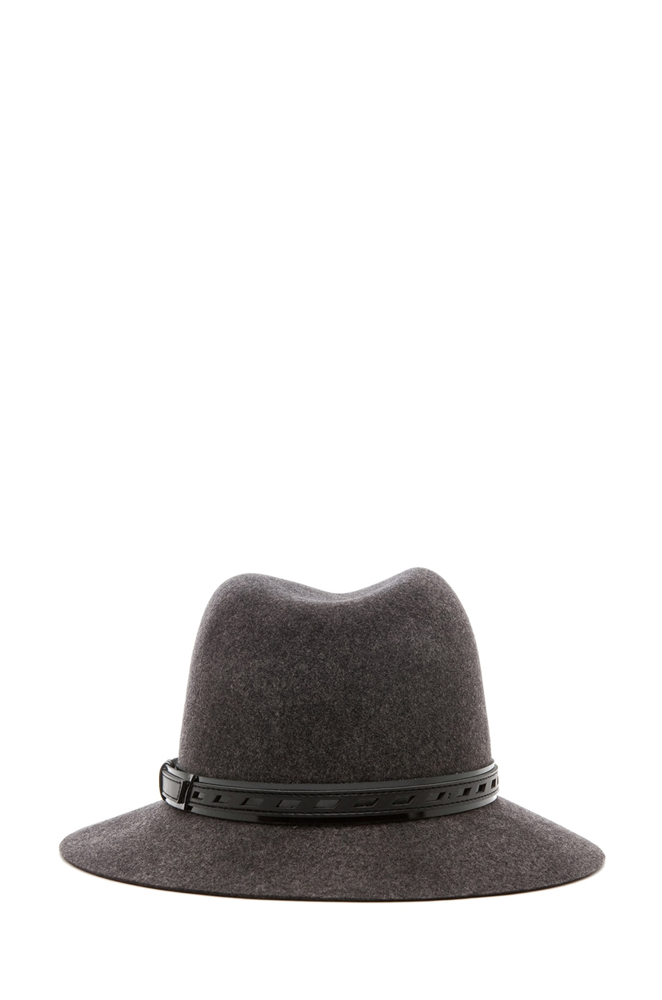 Image 4 of Rag & Bone Floppy Brim Fedora in Dark Grey