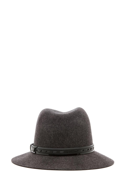 Image 4 of rag & bone Floppy Brim Fedora in Dark Grey