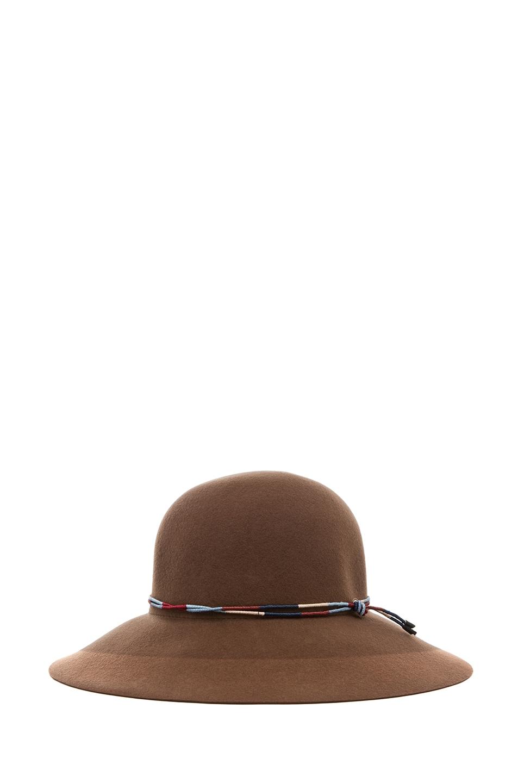 Image 1 of Rag & Bone Dunaway Hat in Chestnut