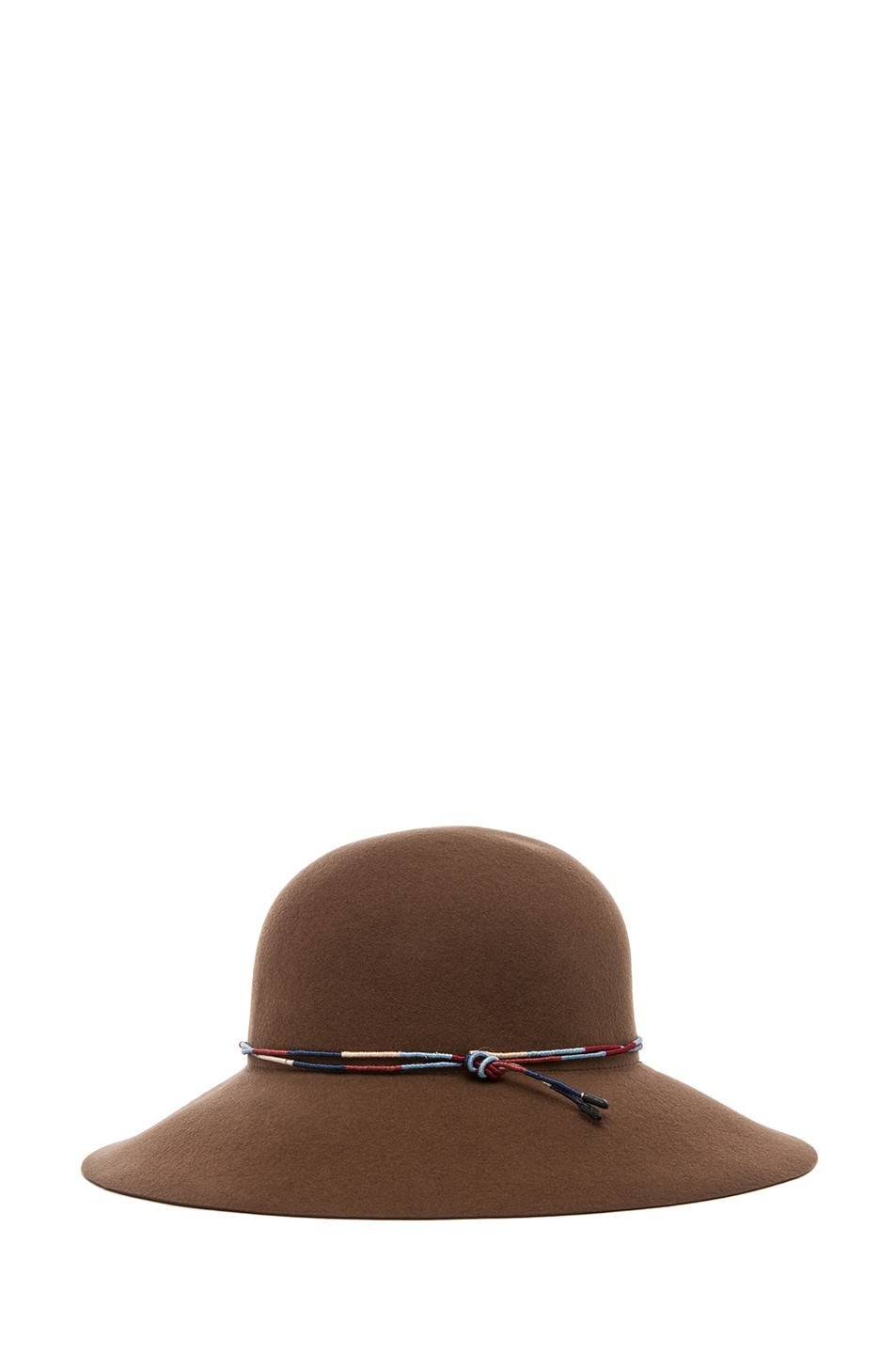 Image 3 of rag & bone Dunaway Hat in Chestnut