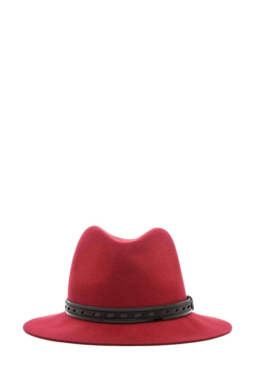 Image 2 of Rag & Bone Floppy Brim Fedora in Red