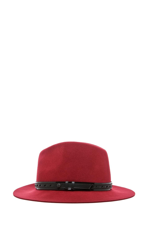 Image 3 of Rag & Bone Floppy Brim Fedora in Red