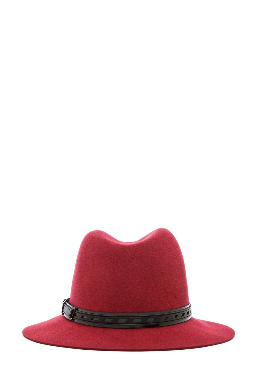 Image 4 of Rag & Bone Floppy Brim Fedora in Red