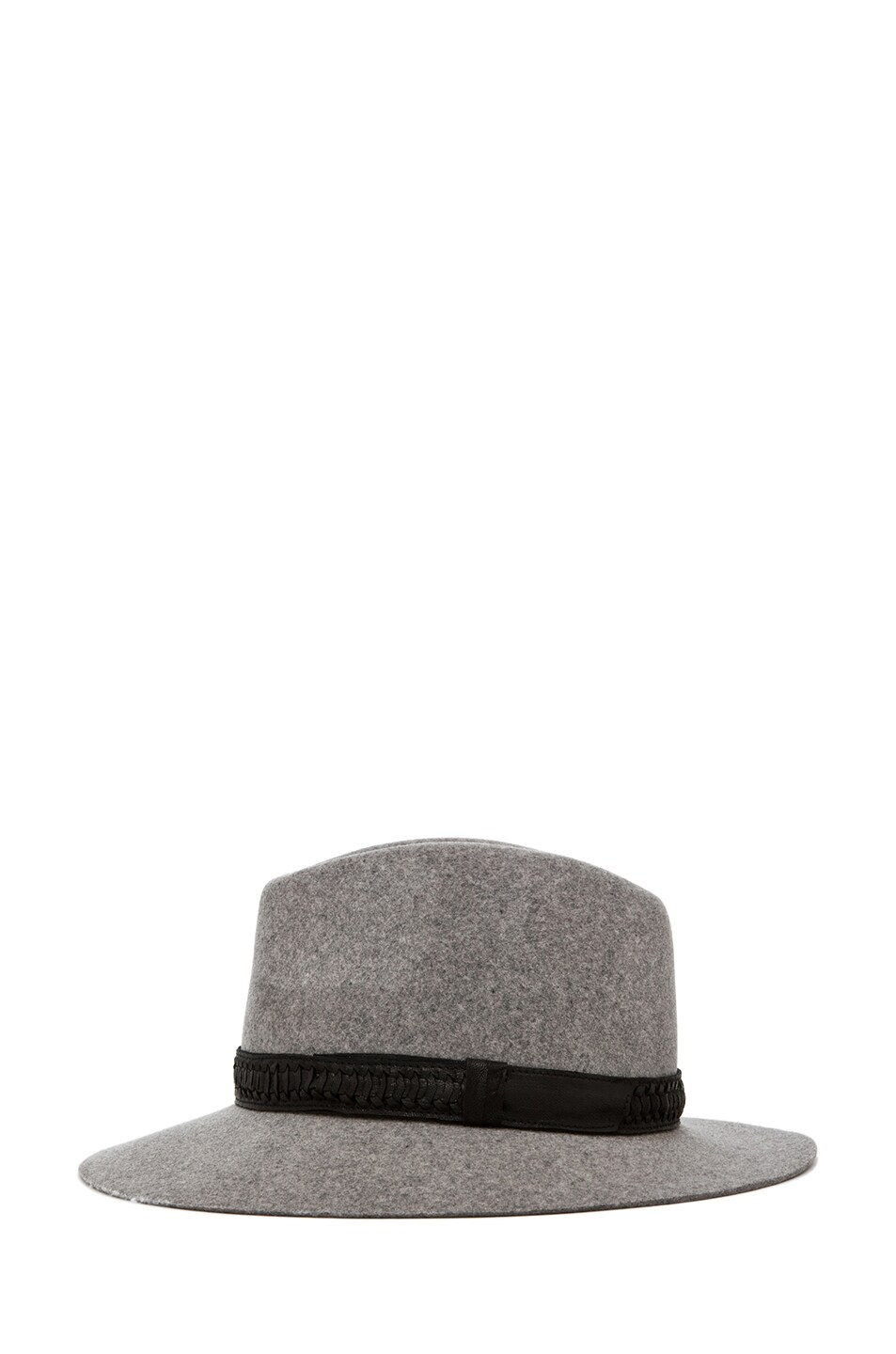 Image 3 of rag & bone Floppy Brim Fedora in Grey