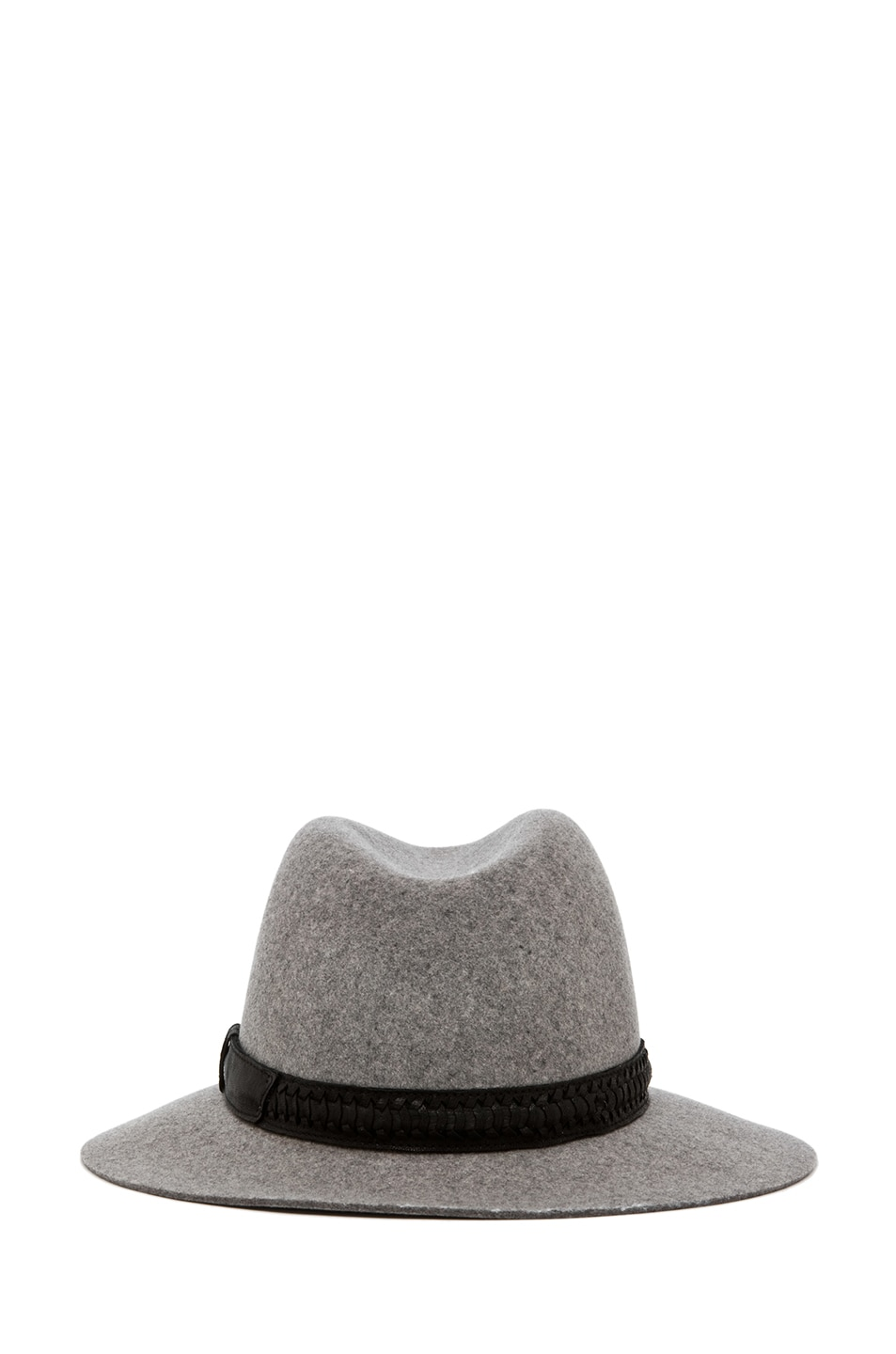 Image 4 of rag & bone Floppy Brim Fedora in Grey