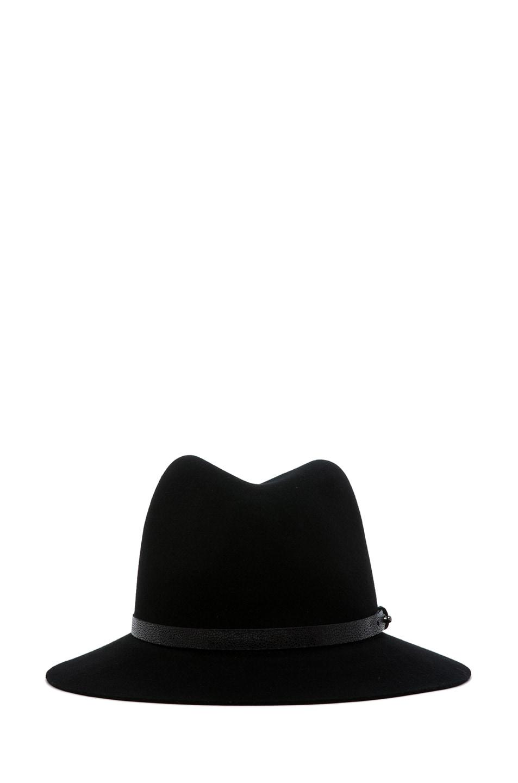 Image 1 of rag & bone Floppy Brim Fedora in Black