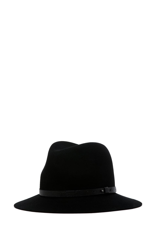 Image 2 of rag & bone Floppy Brim Fedora in Black