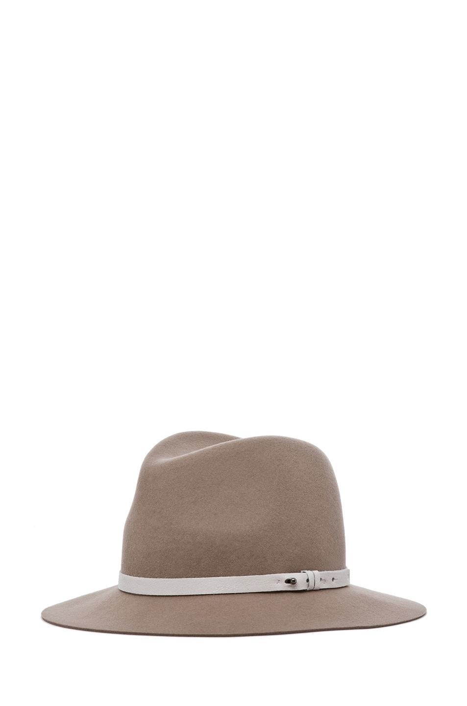 Image 2 of rag & bone Floppy Brim Fedora in Tan