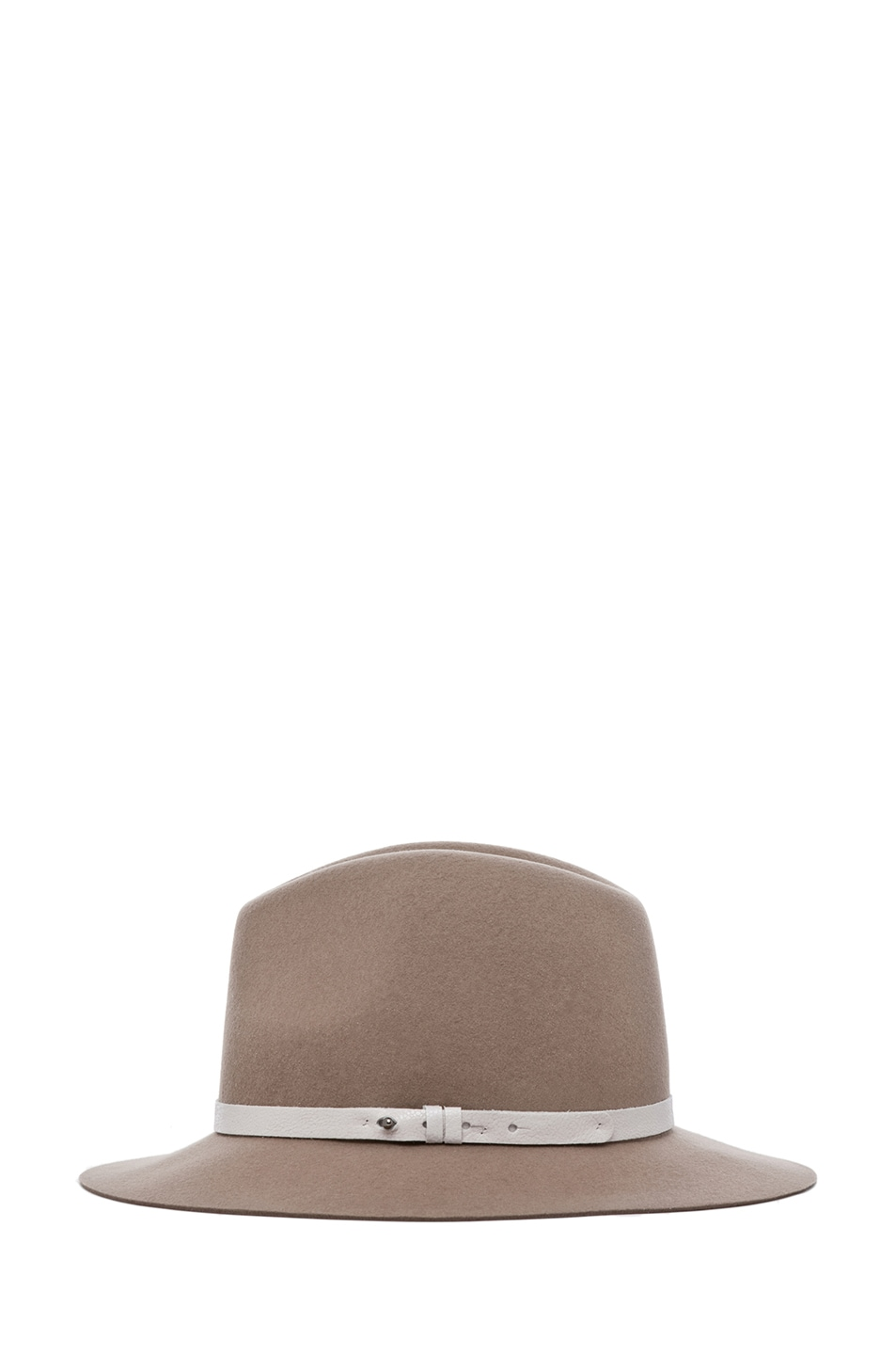 Image 3 of rag & bone Floppy Brim Fedora in Tan