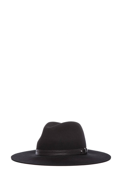 Image 2 of rag & bone Wide Brim Fedora in Black