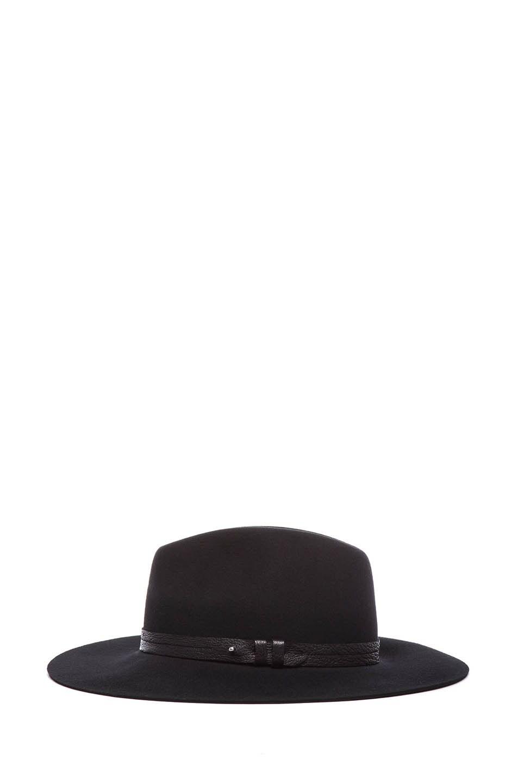 Image 3 of rag & bone Wide Brim Fedora in Black