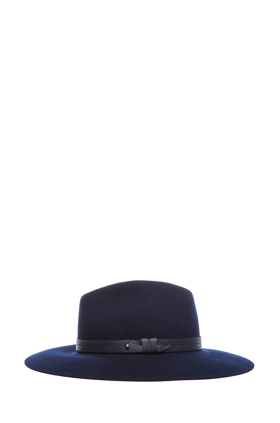 Image 3 of Rag & Bone Wide Brim Fedora in Navy