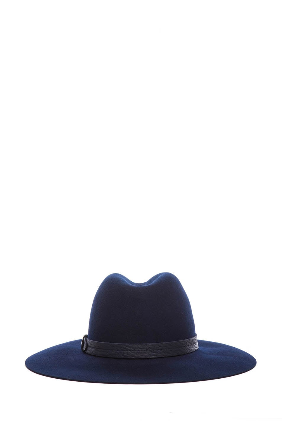 Image 4 of Rag & Bone Wide Brim Fedora in Navy