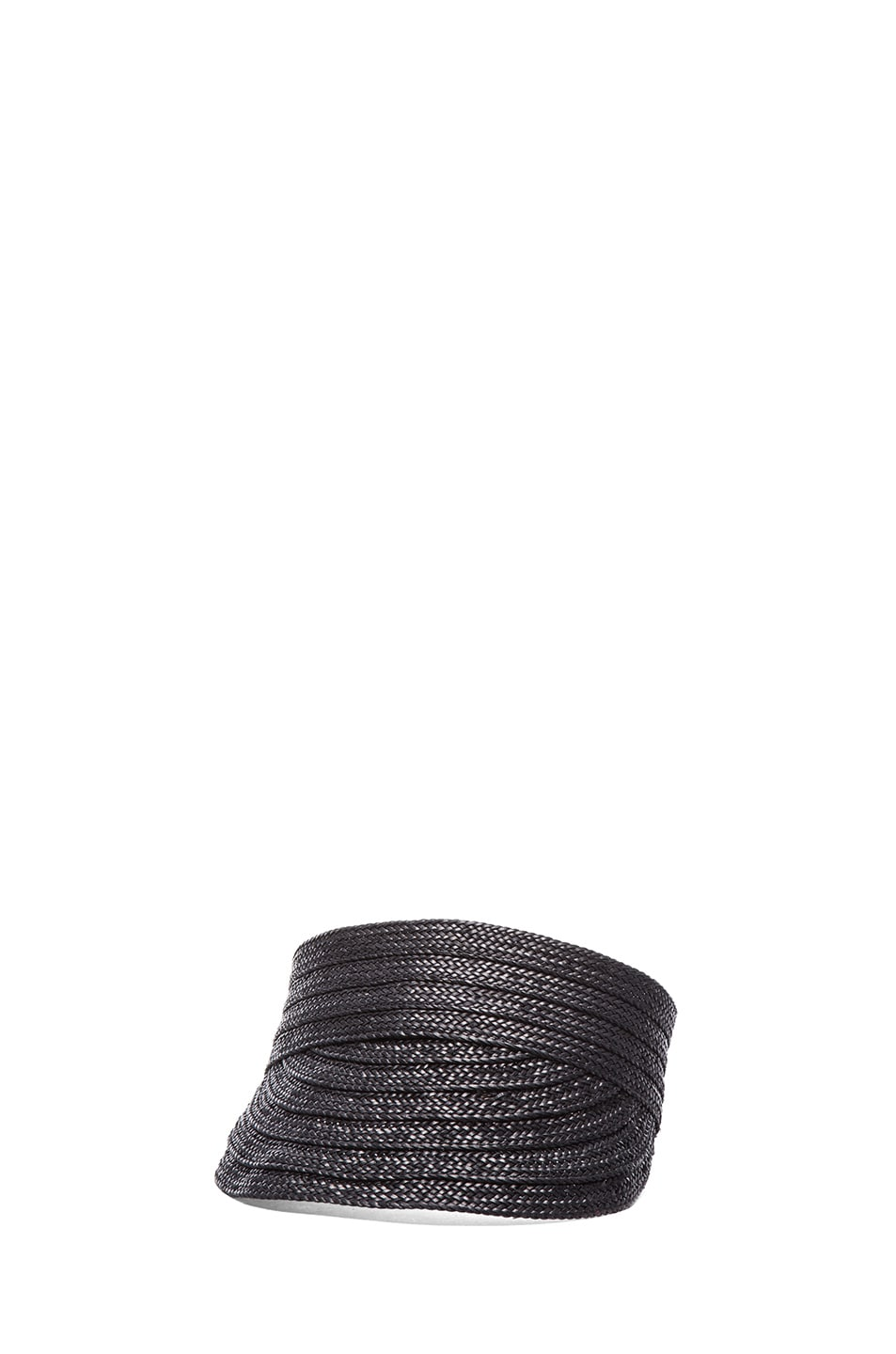 Image 2 of rag & bone Straw Visor in Black
