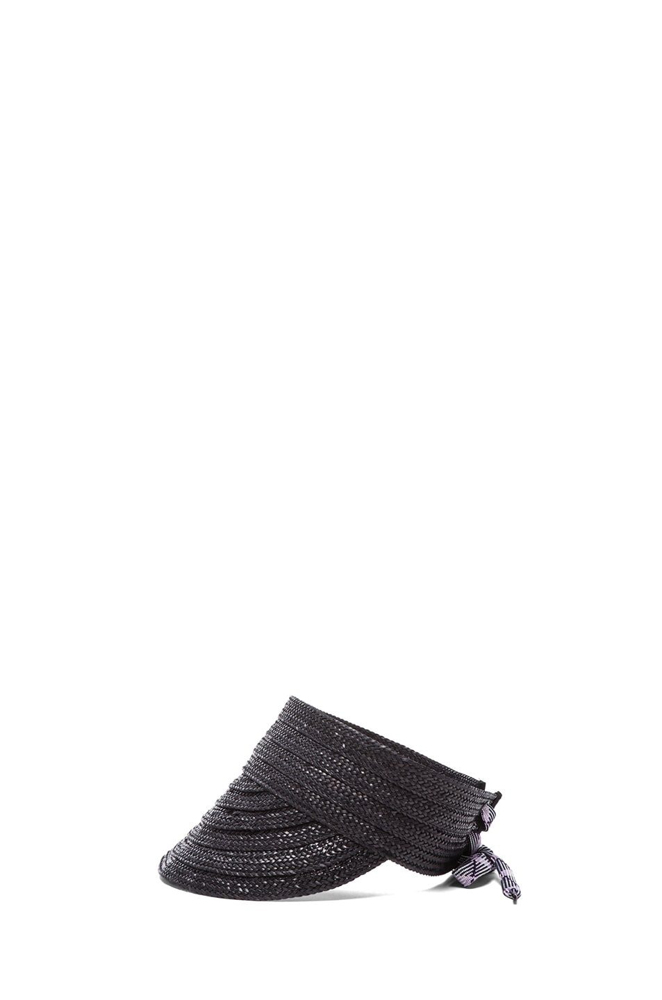Image 3 of rag & bone Straw Visor in Black