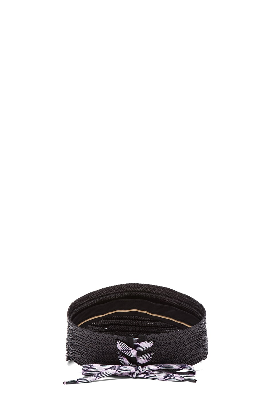 Image 4 of rag & bone Straw Visor in Black