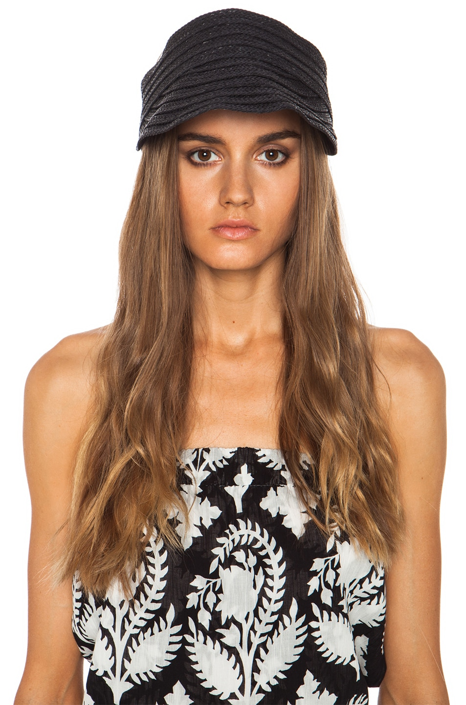 Image 5 of rag & bone Straw Visor in Black