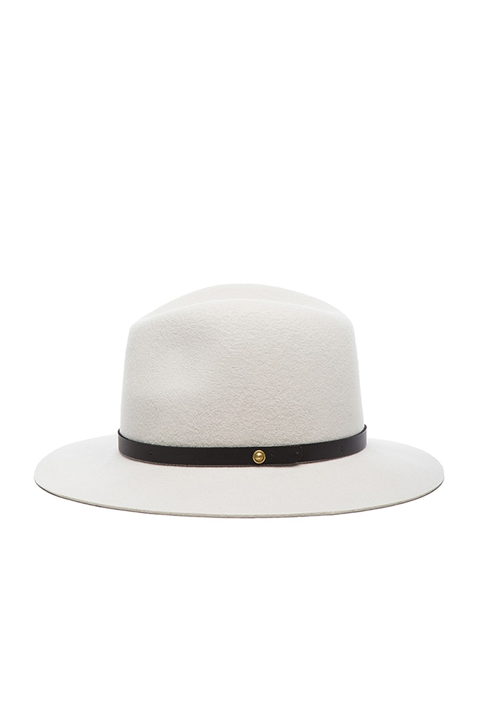 Image 3 of Rag & Bone Floppy Brim Fedora in Alpine White