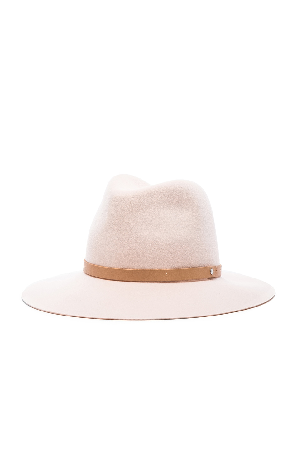 Image 2 of Rag & Bone Floppy Brim Fedora Hat in Shell