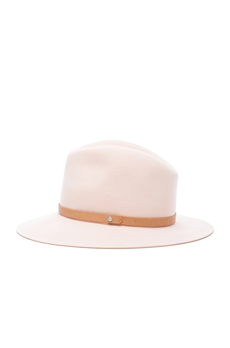 Image 3 of Rag & Bone Floppy Brim Fedora Hat in Shell
