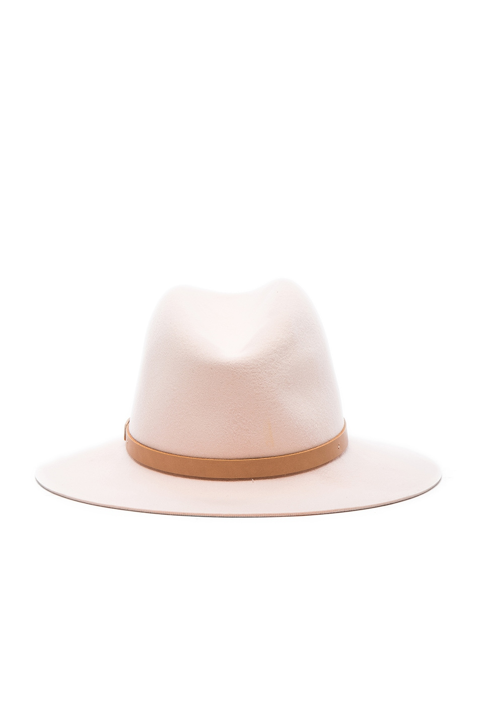 Image 4 of Rag & Bone Floppy Brim Fedora Hat in Shell