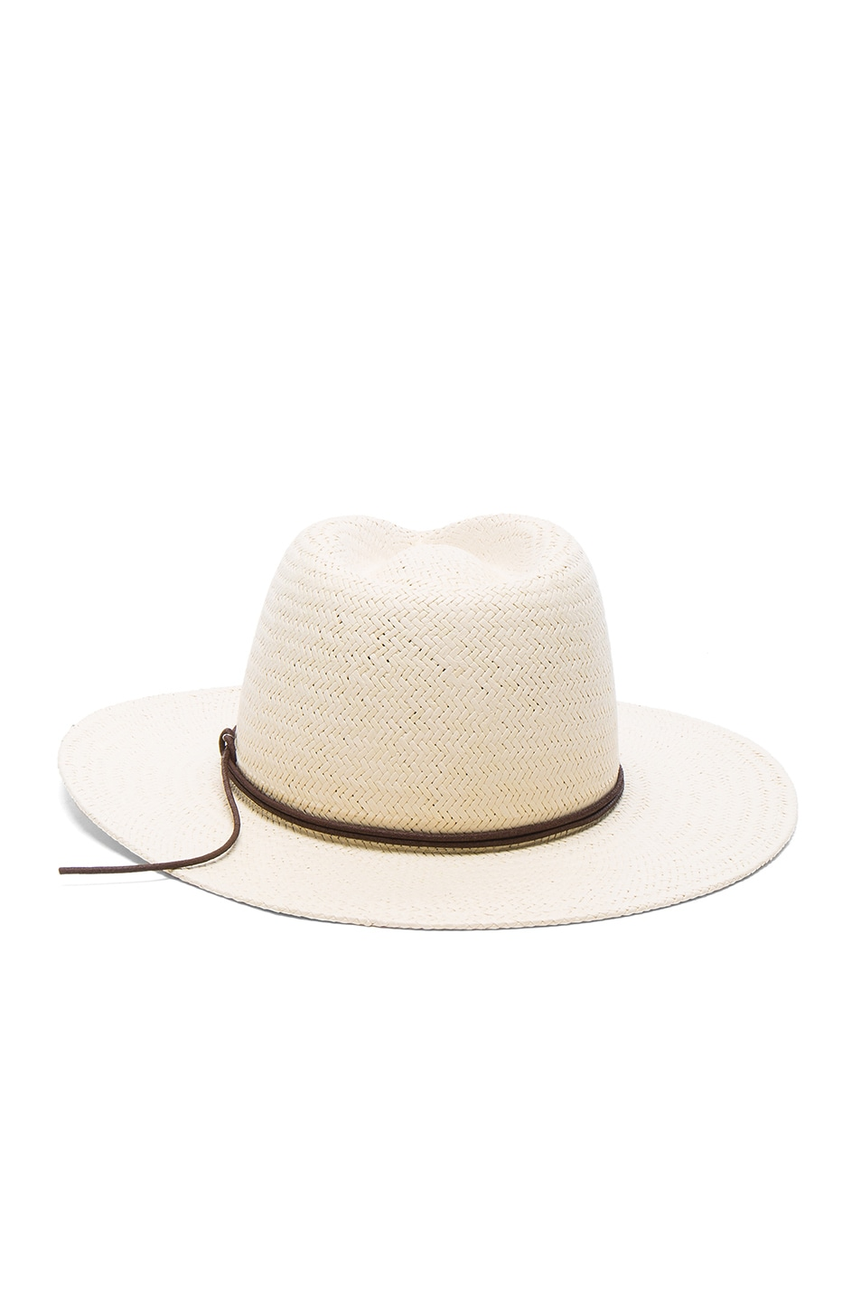Image 4 of Rag & Bone Packable Straw Fedora in Natural