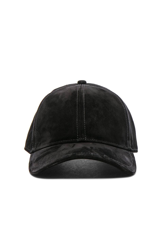 Image 1 of Rag & Bone Marilyn Baseball Cap in Black Suede