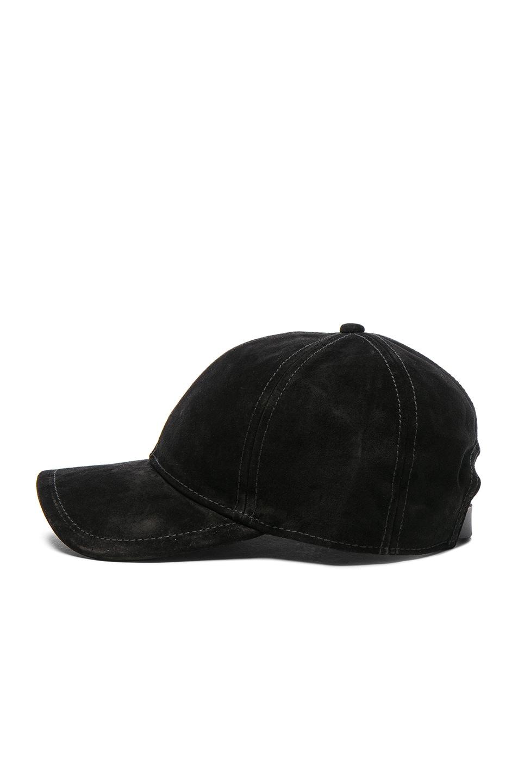 Image 3 of Rag & Bone Marilyn Baseball Cap in Black Suede