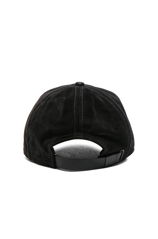 Image 4 of Rag & Bone Marilyn Baseball Cap in Black Suede