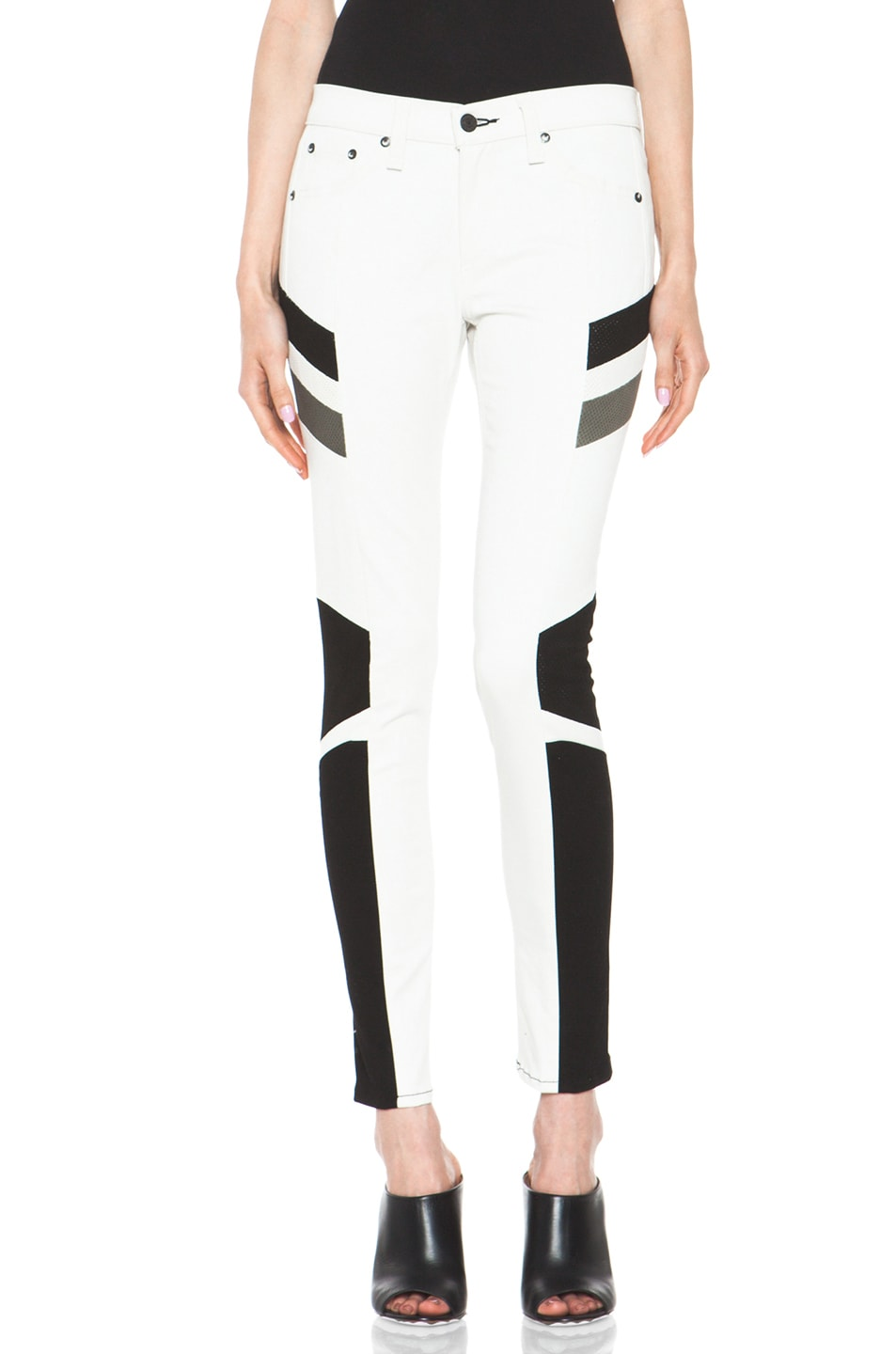 Image 1 of rag & bone JEAN Hailfox Legging in Winter White
