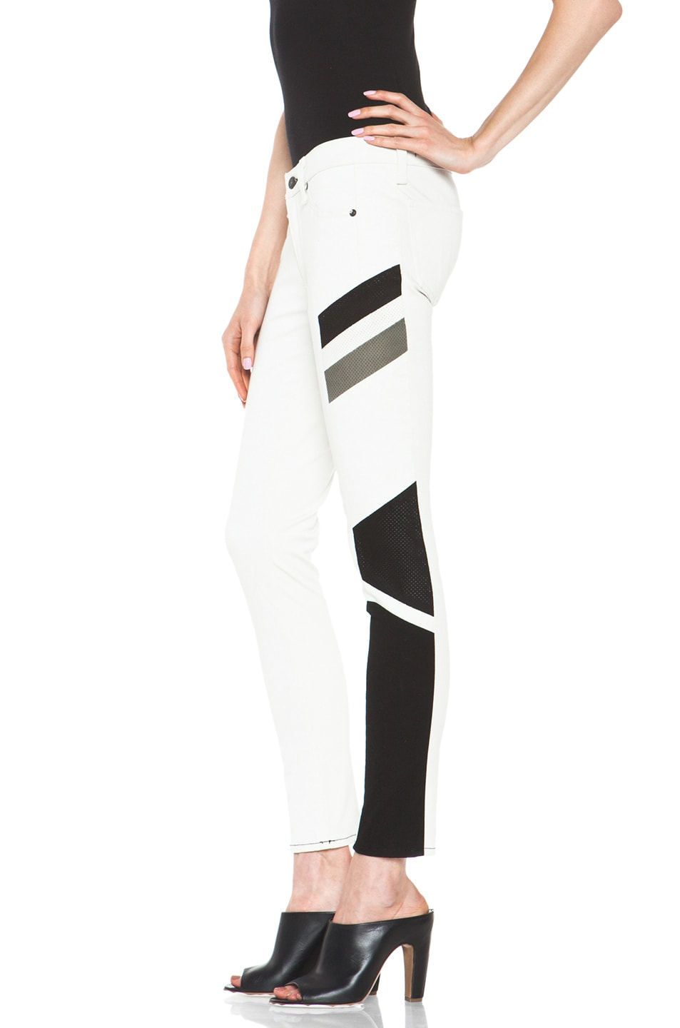 Image 2 of rag & bone JEAN Hailfox Legging in Winter White