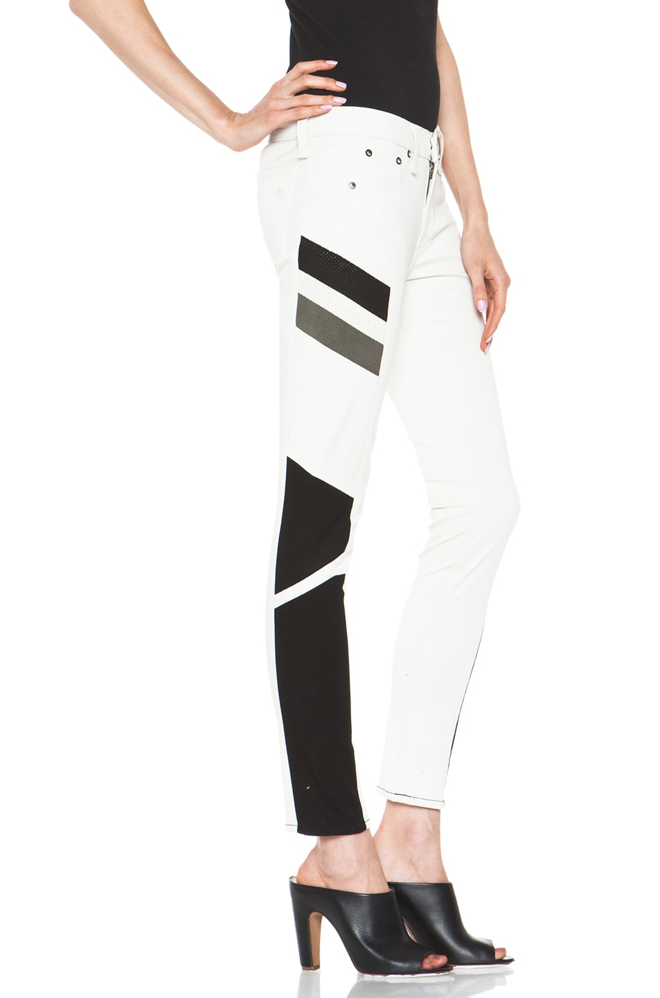 Image 3 of rag & bone JEAN Hailfox Legging in Winter White