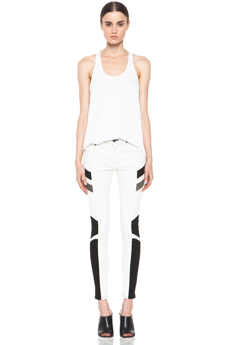 Image 5 of rag & bone JEAN Hailfox Legging in Winter White