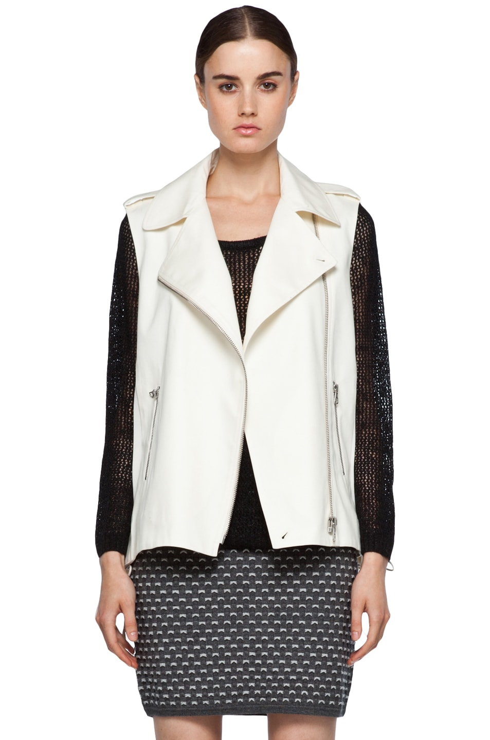 Image 1 of rag & bone Seymour Vest in Ivory