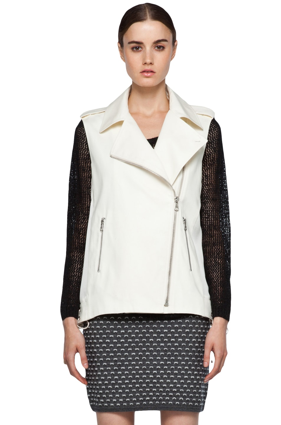 Image 2 of rag & bone Seymour Vest in Ivory