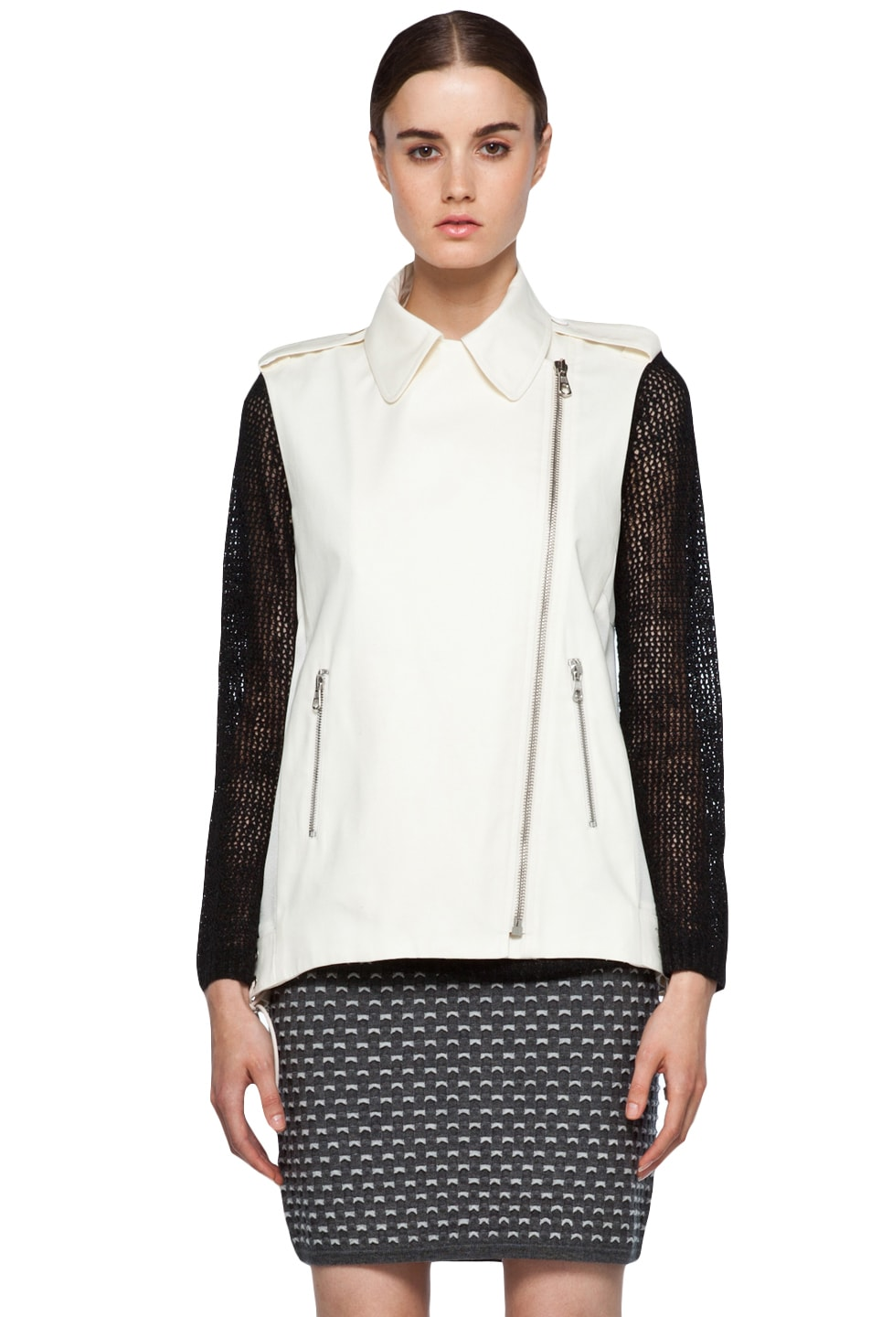 Image 3 of Rag & Bone Seymour Vest in Ivory