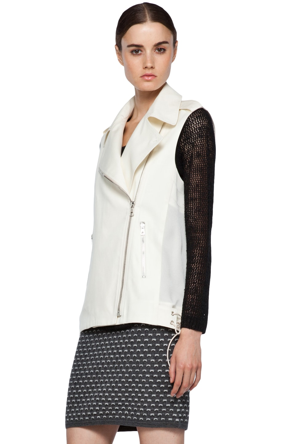 Image 4 of rag & bone Seymour Vest in Ivory