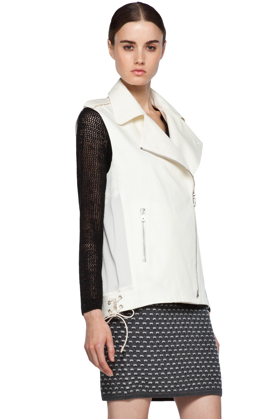 Image 5 of Rag & Bone Seymour Vest in Ivory