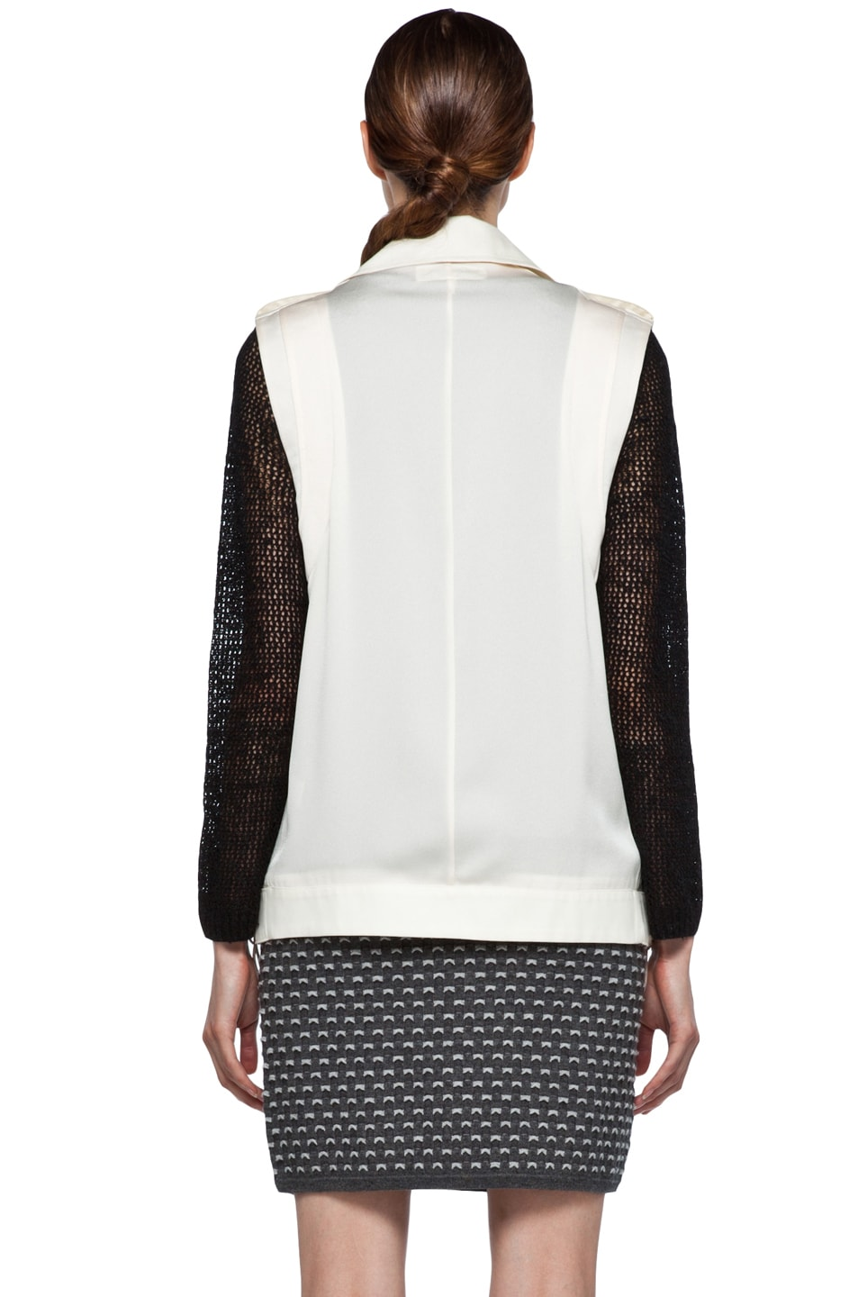 Image 6 of rag & bone Seymour Vest in Ivory