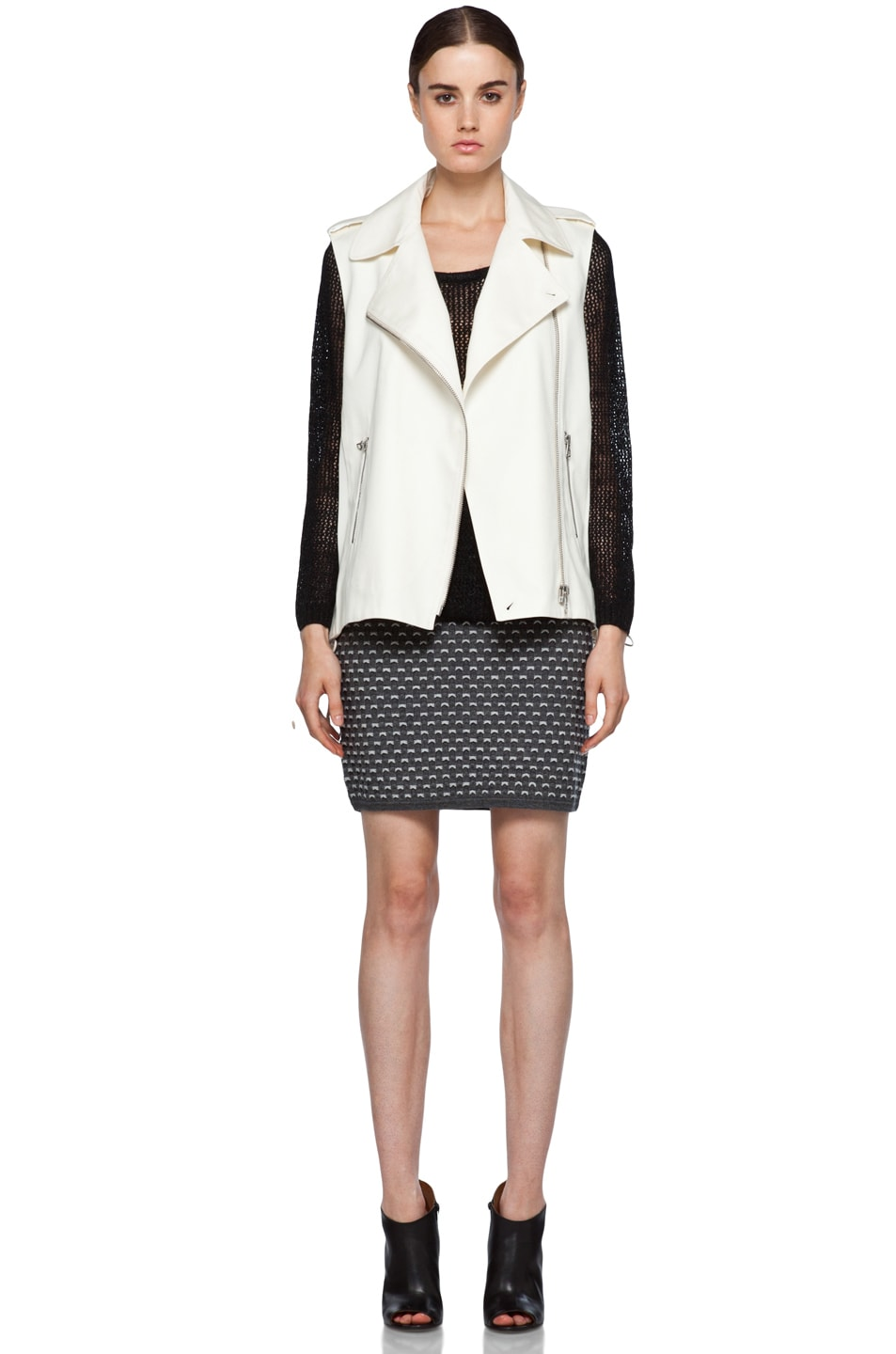 Image 7 of rag & bone Seymour Vest in Ivory